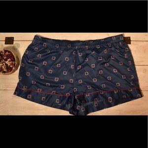Silky patterned pj shorts